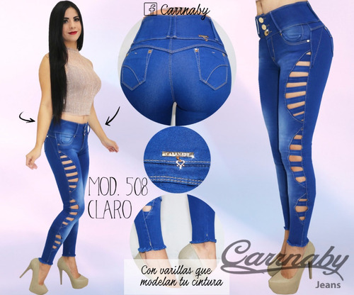 Pantalon Mezclilla Dama Corte Colombiano Carrnaby M508 1 Mercado Libre