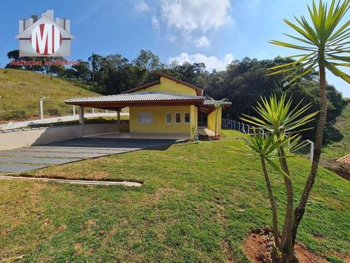 Imagem 1 de 12 de Chácara Nova, Com 3 Dormitórios, Vista Deslumbrante, Bem Localizada, À Venda, 1200 M² Por R$ 550.000 - Mostardas - Monte Alegre Do Sul/sp - Ch0893
