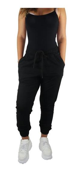Kit 2 Calças Jeans Feminina Jogger Com Punho Elástico Moda
