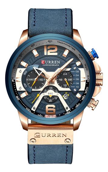 Curren Reloj De Cuarzo Para Hombres Casual Impermeable