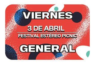 Boleta General Día Viernes Festival Estéreo Picnic 2020