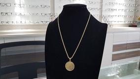 Colar Corrente Feminina Medalha Pai Nosso Cordão Baiano 6713