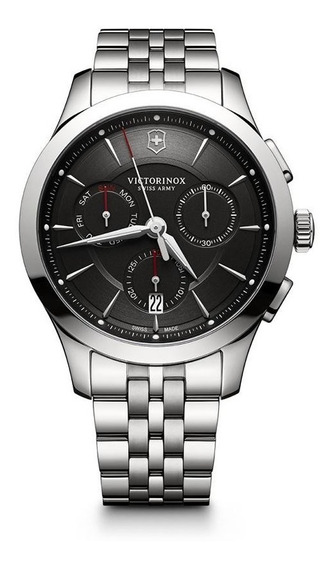 Relógio Victorinox 241745 Alliance Chronografh Prata Origina