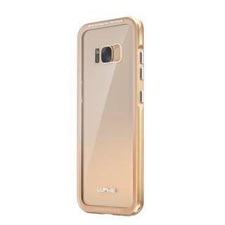 Luphie Telefone Caso Metal Quadro H Cobertura De Volta Vidro