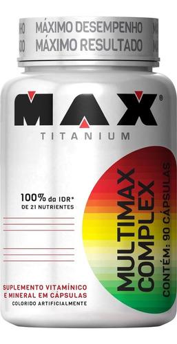 Multimax Complex 90 Cápsulas  Max Titanium - Multivitaminico