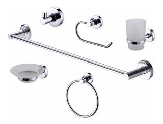 Set Accesorios Baño Peirano Linea 12000 Kit 6 Piezas Toilette