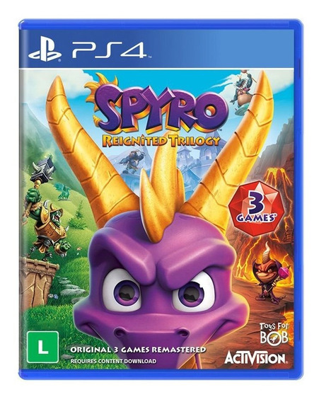Jogo Mídia Física Spyro Reignited Trilogy Para Playstation 4