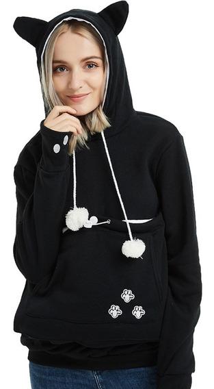 Buzo Buso Cargador Mascota Vestido Mujer Gatos Femenino
