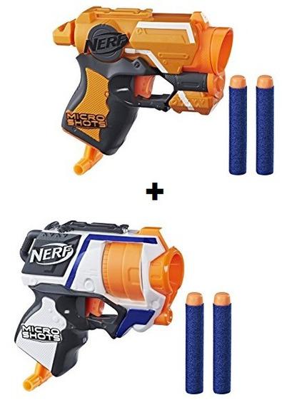 Lançador De Dardos Nerf 1firestrike E 1 Strongarm Microshots