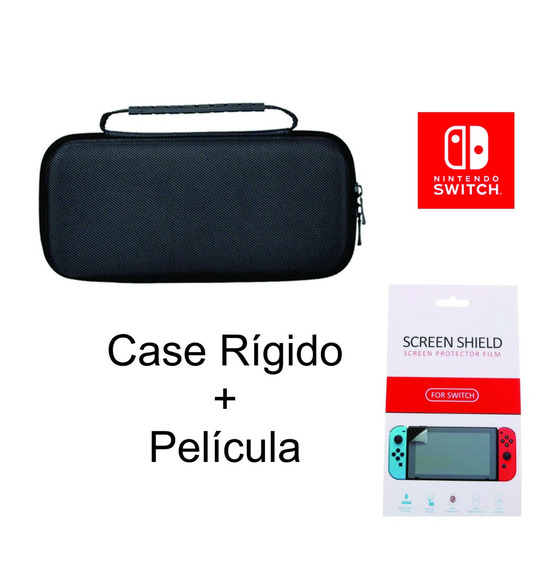 Case Nintendo Switch Capa Rígida Com Alça + Película Brinde