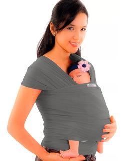 Fular Para Bebe Canguro Elastico Gris Para Bebe