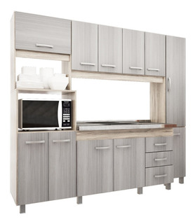 Cocina Compacta Orlandi Calida Sin Bacha 2150x1960x550mm.