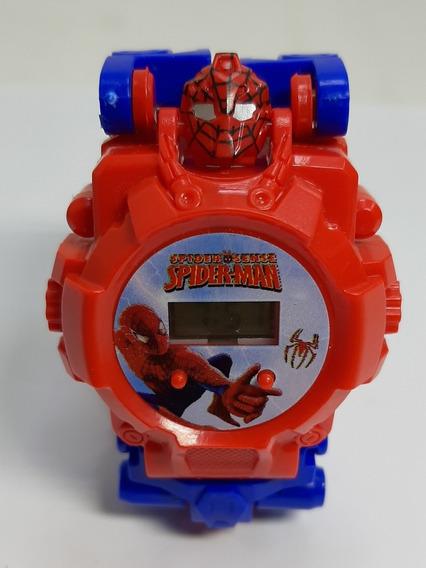 Relógio Infantil Homem Aranha, Robô, Digital Transformes