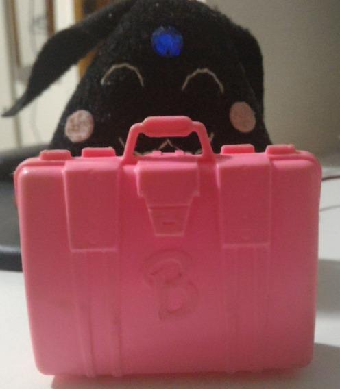 Mala De Viagem Rosa Barbie Estrela Anos 80