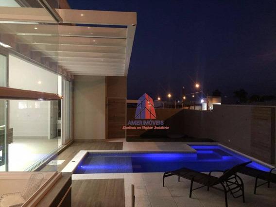 Casa Com 3 Dormitórios À Venda, 300 M² Por R$ 1.690.000 - Condomínio Villagio - Chácara Letônia - Americana/sp - Ca0416