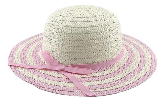 Sombrero Capelina Rayada Para Niñas Art. 180044