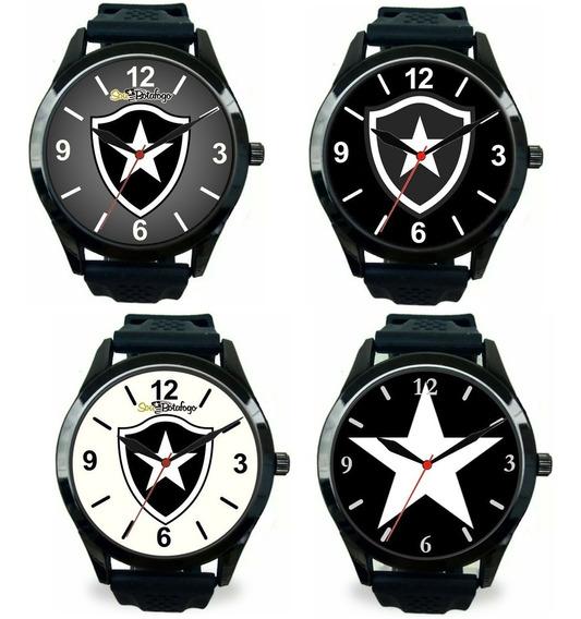 Kit 4 Relógios Pulso Esportivo Botafogo Rj Barato Masculino