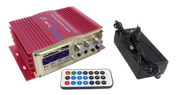Mini Modulo Amplificador Karaoke 400 Watts Bluetooth Usb Sd