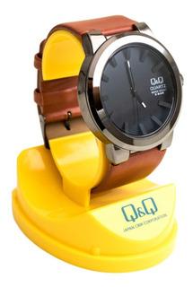 Reloj Q & Q Casual Con Correa De Cuero Para Hombre/3 Colores