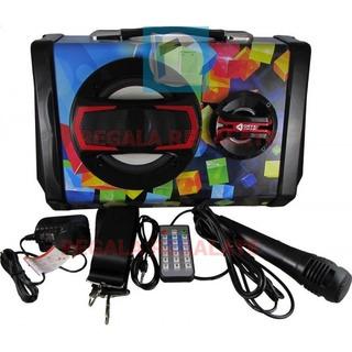 Parlante Portatil Usb Mp3 Bluetooth Karaoke Mj-b5 Microfono