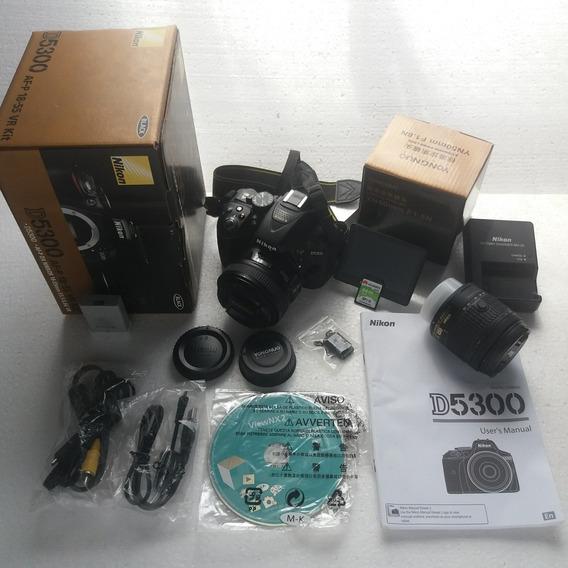 Câmera Nikon D5300 + Lente Yongnuo + 64gb