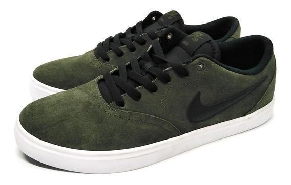 Tenis Nike Sb Check Solar Verde Militar Blanco Original Nuev