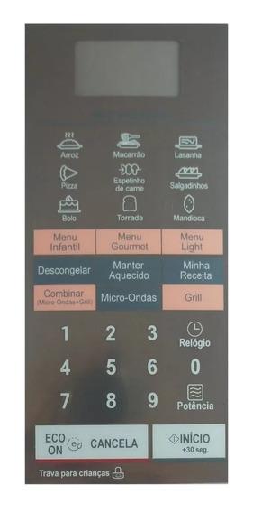 Membrana Teclado Forno Microondas LG Mh 7044 L/la Espelhada