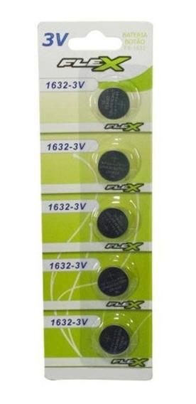 Cartela C/ 5 Unidade Bateria Botao Fx-cr1632 3v Flex Gold
