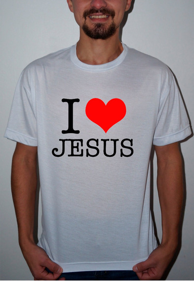 Camiseta Ou Baby Look I Love Jesus