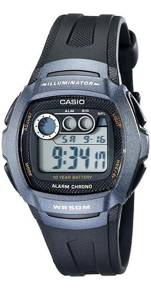 Relógio Casio W-210-1bvcb Original Bateria Dura 10 Anos