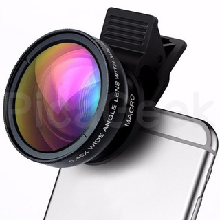 Lente Super Gran Angular Wide 0.45x + Macro Celular Tablet