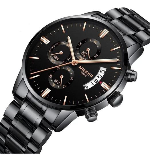 Relógio Importado Nibosi Original Cronógrafo Frete Grátis