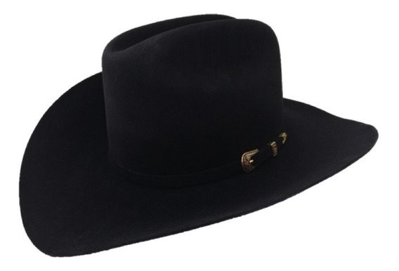 Sombrero Texana De 100 X Marca West Point Negro Pelo Castor