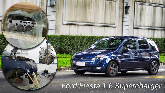 Ford Fiesta 2003 1.6 Supercharger Azul Ilhéus