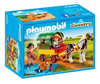Carreta De Picnic Con Caballo Y Personajes 6948 - Playmobil