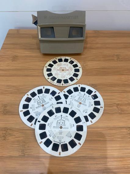 Binóculo View Master 3d Antigo Made Usa Gaf Bélgica C/discos