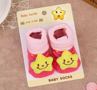 Meias 3d Bebê Pantufa Pelucia Anti Derrapante Brinquedo Meia