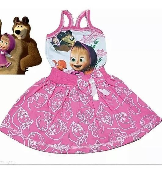 Vestido Masha E Urso Infantil - Promoção