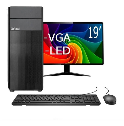 Cpu Pc Intel Core I5 + 4gb + Hd 240gb Monitor 19,5 Promoção!