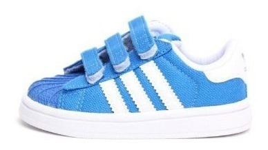 Original Kids Tenis adidas Superstar Bluebird Contactel