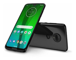Moto G7 64 Gb Dual Chip Black 4gb Ram + Capinha Anti-impacto