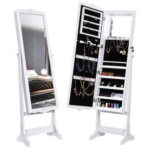 Espejo Luz Led Blanco Joyero Organizador Alhajero Armario