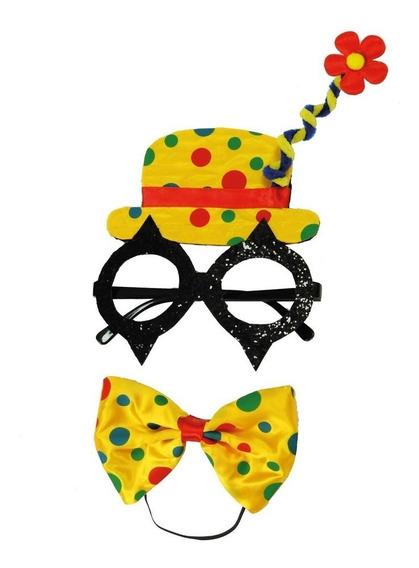 Conjunto De Acessórios Carnaval Festas Palhaco Amarelo