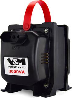 Transformador 3000va V&m 110 220 E 220 110 - 12x S/ Juros Nf
