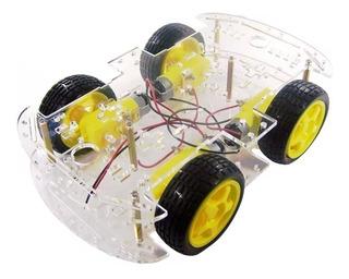 Kit Smart Car Chassis Carro 4 Rodas Robótica Robô Arduino Nf
