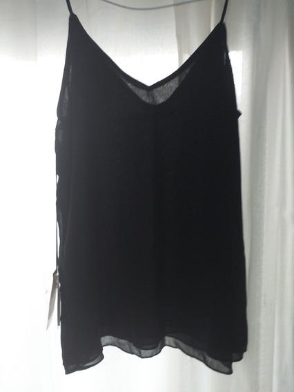 Camisa Sara Xs Negra / Palermo