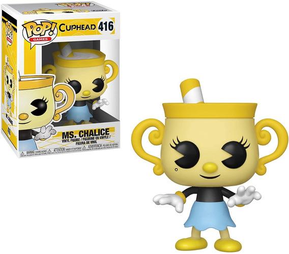 Boneco Funko Pop Games Cuphead Ms Chalice 416