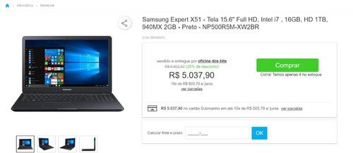 Notebook Samsung X51 Cor Preta (produto Raro)
