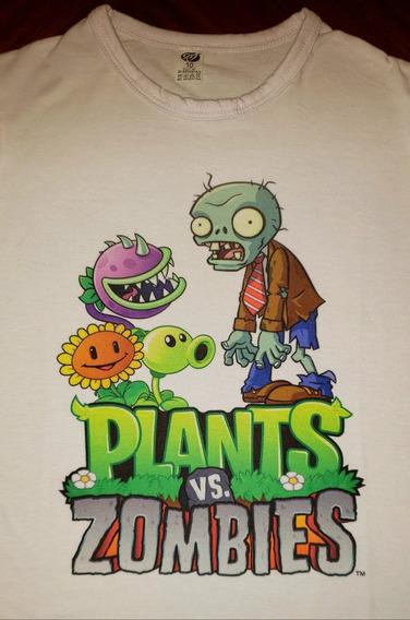 Remera Plantas Vs Zombies