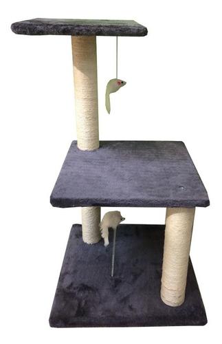 Rascador Para Gato 40x40x70cm Alto Gris Mas Envio